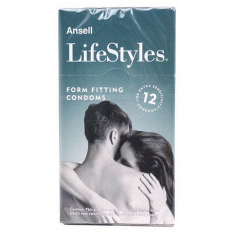 Image of Ansell Lifestyles Firm Fit 12 Pack