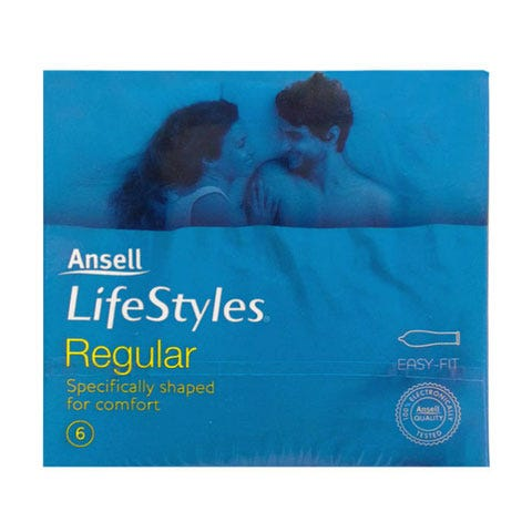 Image of Ansell Lifestyles Regular 6 Pack
