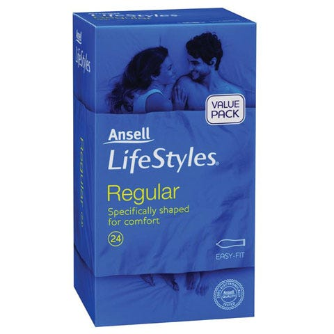 Image of Ansell Lifestyles Regular 24 Pack