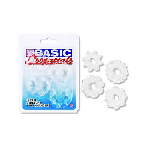 Image of Basic Essentials Cock Ring Set of 4