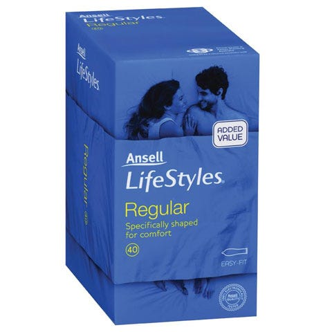 Image of Ansell Lifestyles Regular 40 Pack