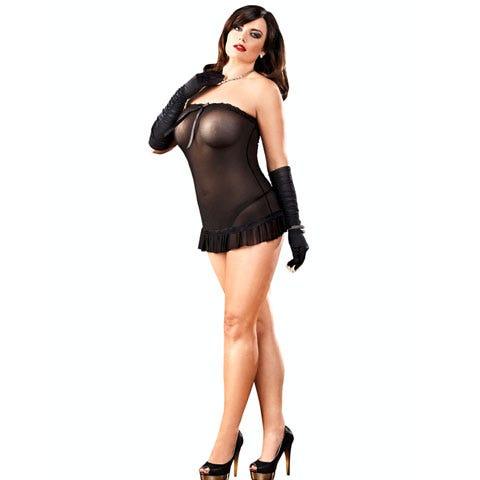 Image of Baci White Label 420 Lace Mesh Tube Dress