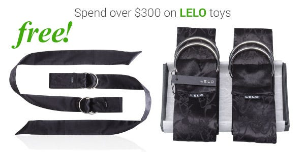 Spend over $300 on LELO products and receive the LELO Snow Pear Massage Candle and Hex Condoms 3 Pack & LELO Boa Silk Pleasure Ties, valued at $182.85 for FREE!